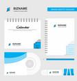 document setting logo calendar template cd cover vector image vector image