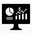 dollars dashboard icon vector image vector image