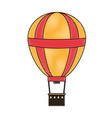 doodle funny air balloon cute entertainment vector image vector image