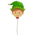 Elf balloon on string vector image vector image