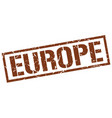 europe brown square stamp vector image vector image