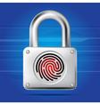 Finger print lock vector image vector image