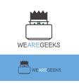geek logotype Modern outline computer nerd vector image vector image