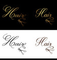 hair logo luxury classic clean style elegant vector image