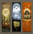 happy halloween collections banner vertical vector image vector image