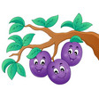 image with plum theme 1 vector image vector image