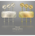 infographics in metal style vector image vector image