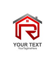 initial letter r logo template colored red grey vector image vector image