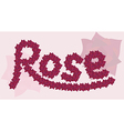 inscription of roses vector image vector image
