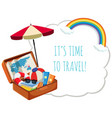 its time to travel vector image vector image