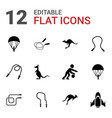 jump icons vector image vector image