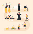 life cycle with flat design co vector image vector image