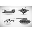 Military aircrafts vector image