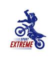 motocross jump logo motocross freestyle vector image