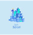 mountain birthday presents birthday card vector image