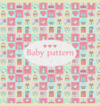 new born baby seamless pattern square design vector image vector image
