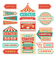 old carnival circus banners and carnival labels vector image