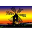 Old mill Dutch at sunset vector image vector image