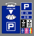 parking clock icon set for parking time vector image vector image
