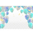 party balloons isolated on white vector image vector image