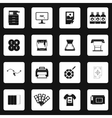 Printing icons set in simple style vector image vector image