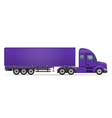 semi truck trailer 04 vector image vector image