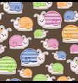 Snail pattern vector image