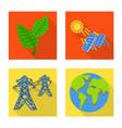 solar and panel symbol set vector image