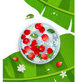 songkran festival thailand rose petals and flower vector image