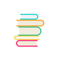 stack books icon in flat style vector image vector image