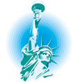 statue liberty new york city banner vector image vector image
