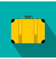 Suitcase flat icon vector image