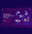 technologies for automate production process vector image