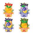 templates for labels of juice vector image