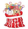 toys bag santa vector image vector image