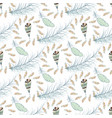tribal feather seamless pattern background bird vector image vector image