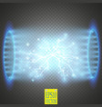ufo light beam isolated on transparnt background vector image