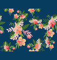 vintage tropical flower seamless pattern vector image