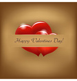 Vintage Valentine Background With Hearts vector image vector image