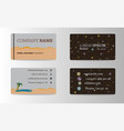 visit card for business vector image vector image