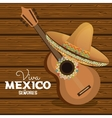 viva mexico guitar hat graphic vector image vector image