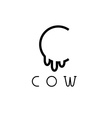 cow monogram vector image