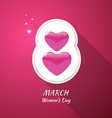 8 March with heart International Womens Day vector image