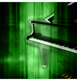 abstract green music background with grand piano vector image vector image