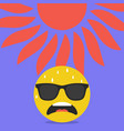 anxious face with sweat emoji hot summer weather vector image