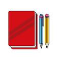 book pen and pencil design vector image