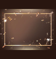 bronze gradient party and celebration background vector image vector image
