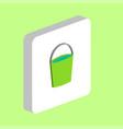 bucket computer symbol vector image vector image
