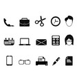 business people office tools icons set vector image