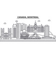 canada montreal architecture line skyline vector image vector image